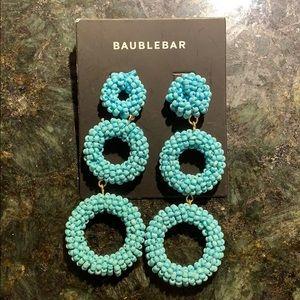 Turquoise Bauble Bar Earrings